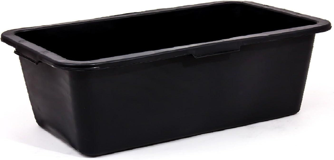 Negro 80 litros caja de plástico para mezclar argamasa contenedor, 3 tamaños disponibles: Amazon.es: Bricolaje y herramientas