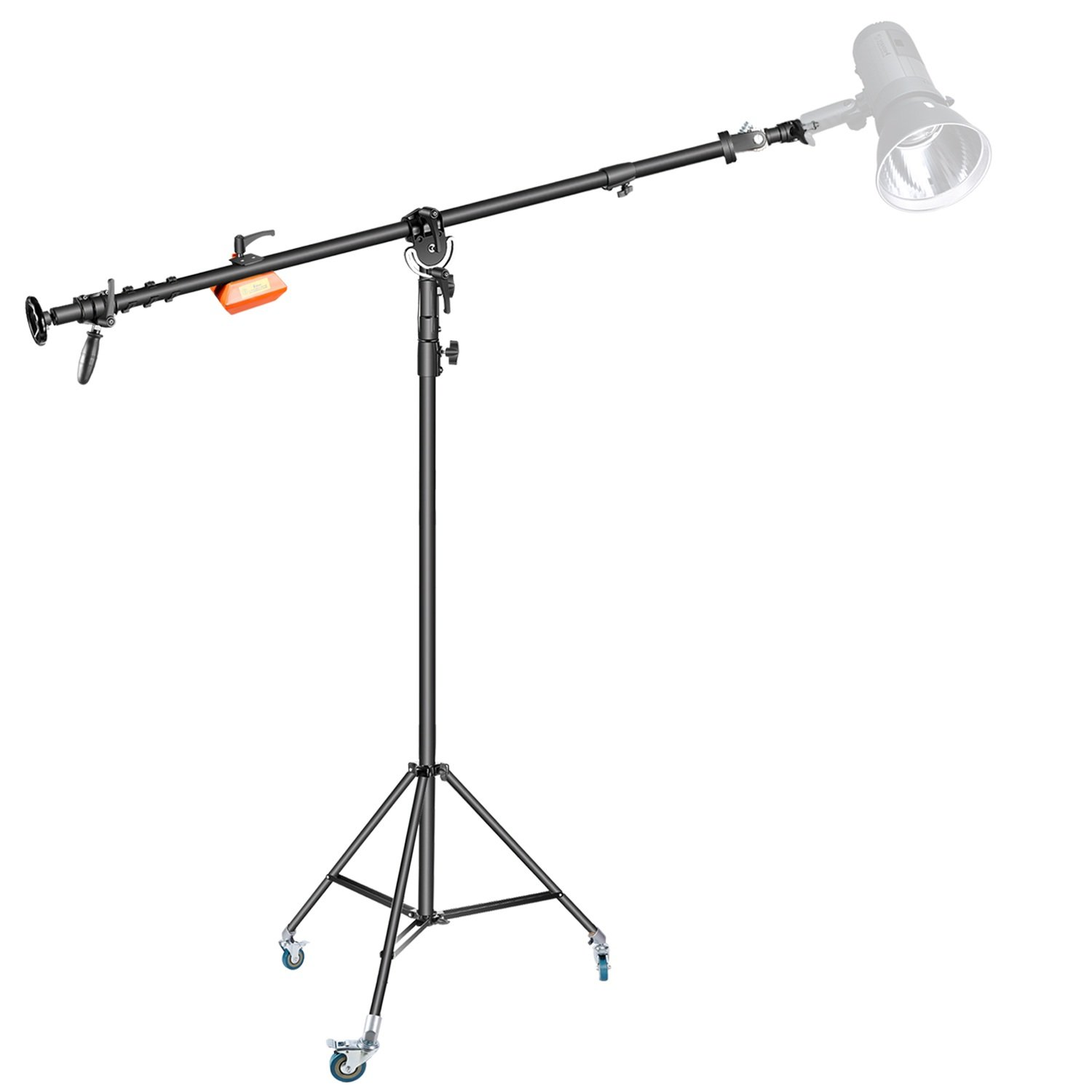 Neewer Pro Video Counter Weight Boom Stand Set: Light Stand with Swivel Caster Wheel(55 inches), 61.8-103 inches Boom Arm and 13 pounds Counter Weight for Monolight Strobe Light Ring Light Softbox by Neewer