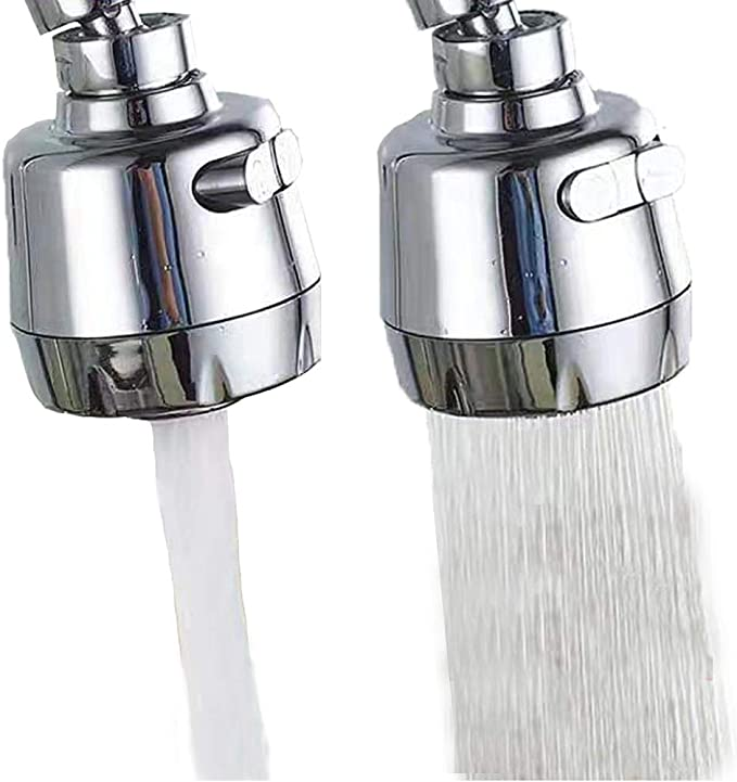 360 Swivel Faucet Water Tap,Faucet Extender Nozzle for Kitchen and Bathroom,Universal Rotation Anti Splash Hose Bubbler