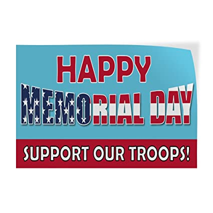 picture regarding Closed for Memorial Day Printable Sign named : Decal Sticker Pleased Memorial Working day Help Our
