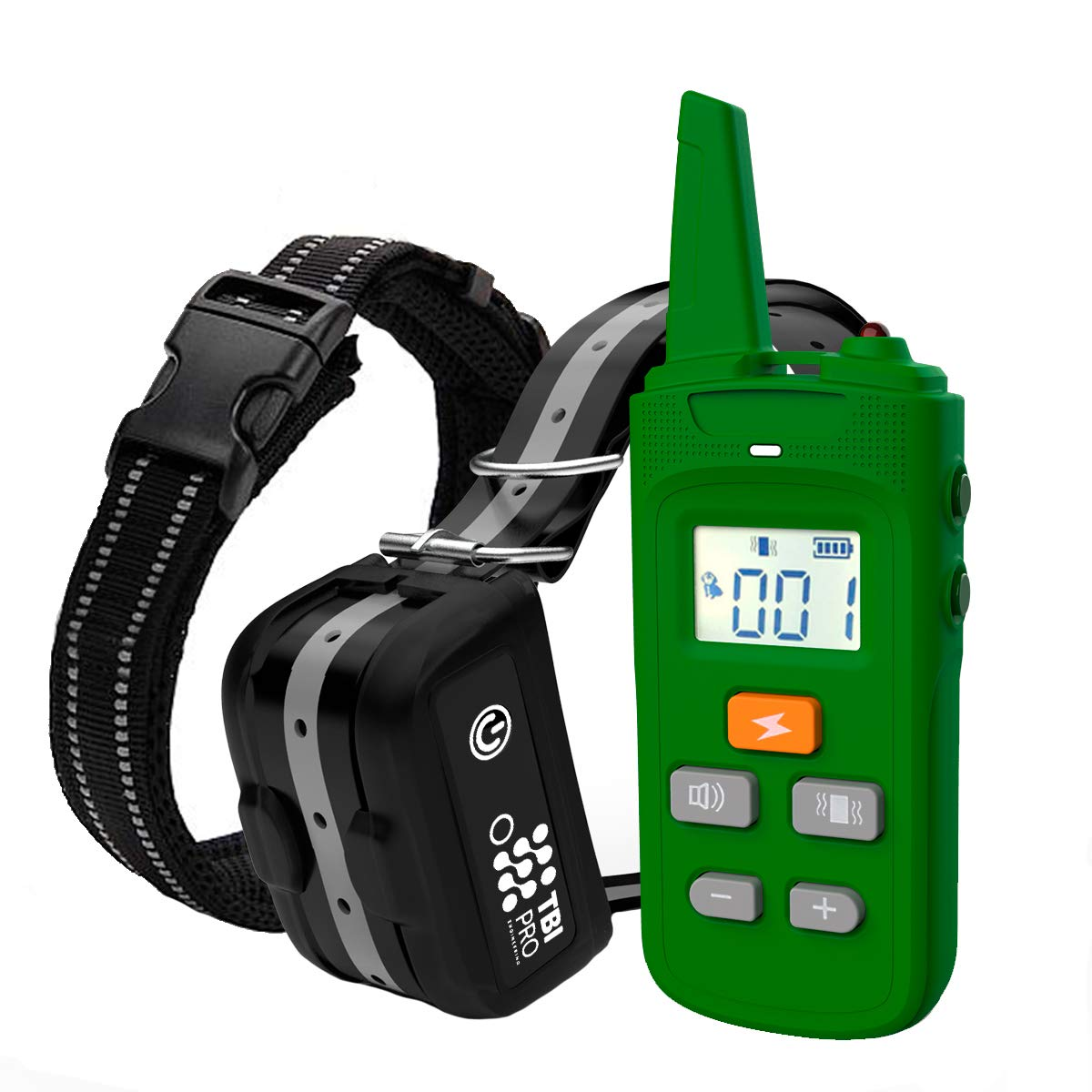 TBI Pro Dog Training Collar with Remote, Long Range 2000 ft, Rechargeable IPX7 Waterproof, for Small, Medium, Large Dogs, All Breeds