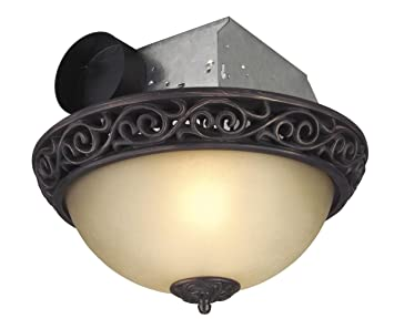 Craftmade Lighting TFV70L AIORB Decorative Bathroom Exhaust Fan, Iron  Scroll Oil Finish