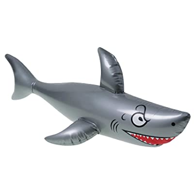 "One 40"" Long Vinyl Inflatable Shark: Toys & Games"