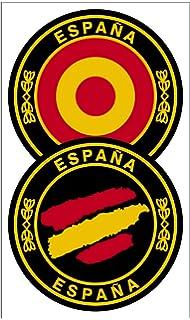 Artimagen Pegatina Círculo España ø 70 mm.: Amazon.es: Coche y moto