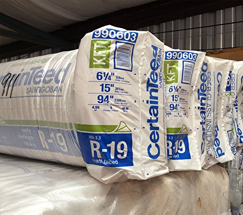 """10 BAGS of CertainTeed R-19X15""""X93"""" Kraft Paper Faced for sale  Delivered anywhere in USA"""