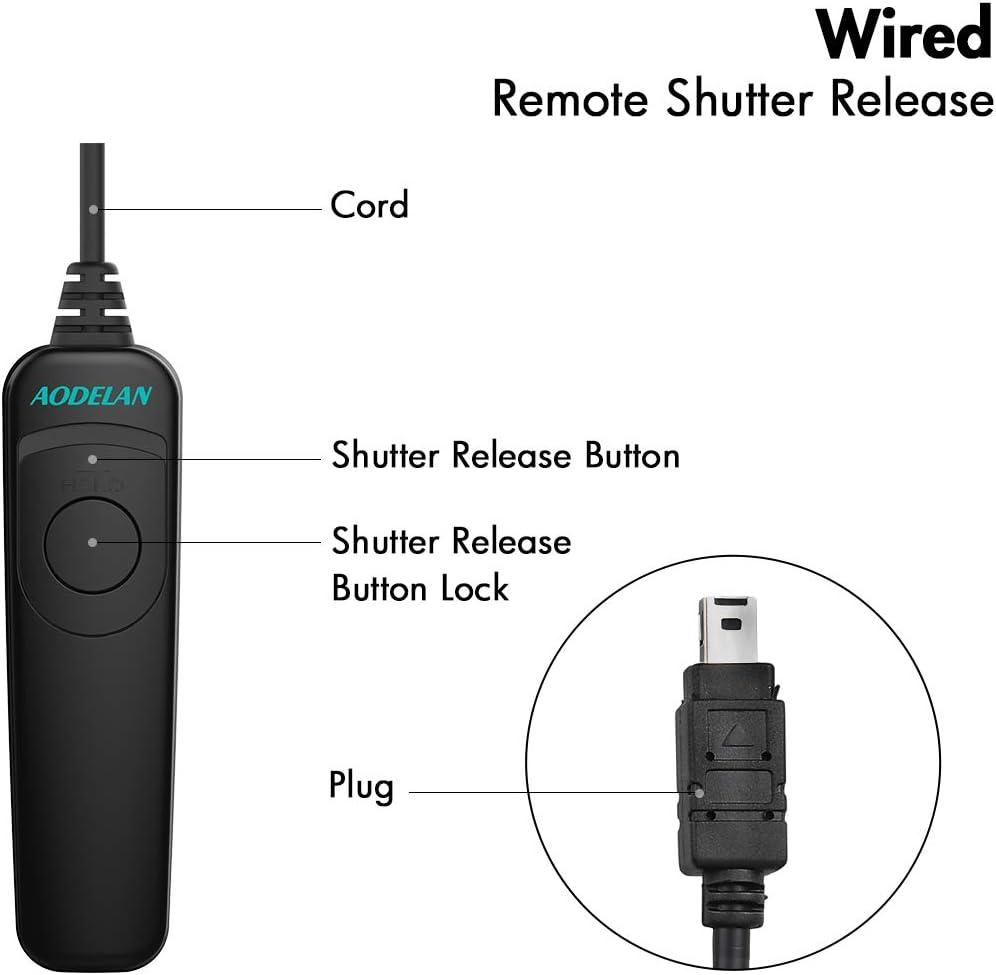 D4 D500 D700 AODELAN Remote Shutter Release Control Shutter Release for D850,D3 D800E Replaces Nikon MC-30A D800 D810 D40s D810A D5