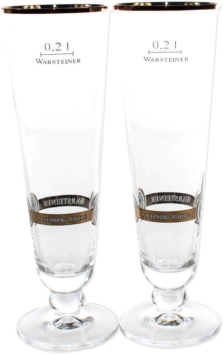 Warsteiner 0.2L Gold Rimmed Tulip glasses many availble