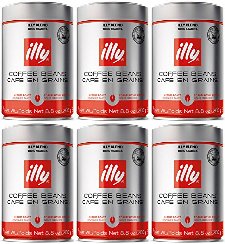 illy-caffe-normale-whole-bean-coffee-medium-roast-red-top-88-coffee-cans-pack-of-6-package-may-vary