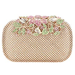 Bonjanvye Flower Purses With Rhinestones Crystals
