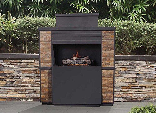 Sunjoy 110505002 Matheson Fireplace, Black