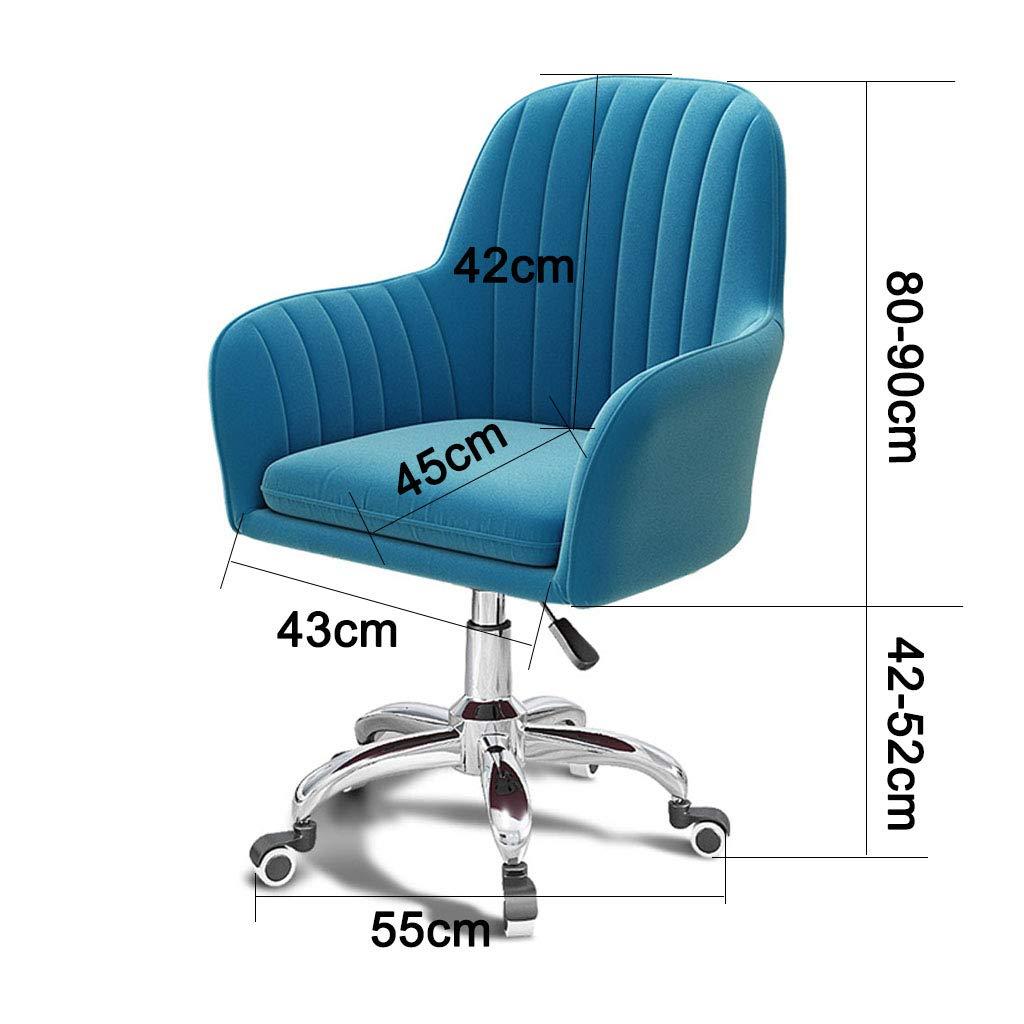 Justera rullstol dator svängbar kontorsstol arbetsstol med tjock kudde 5-benta bas med hållbara underlägg justerbar höjd, brun + grå Lila