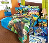 NINJA TURTLES 100% MICROFIBER COMFORTER SET AND SHEET SET QUEEN 7 PCS