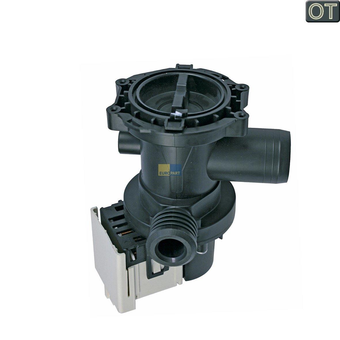 Ablaufpumpe mit Pumpenstutzen und Flusensiebeinsatz Magnettechnikpumpe 30 Watt,