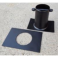 'Conector de aluminio Negro para Cadena lluvia a