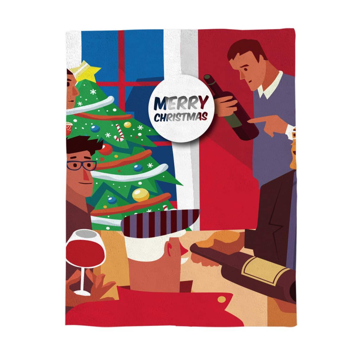 クイーンエリアファンタジークリスマススターボール雪山 ユニークなカスタムプリント両面フランネルフリースブランケット ベッドソファスロー用ソフト寝具 49*79in=125*200cm gml181108-queen-001SWTQ00343MTBCQAA B07K9XBN3V Christmaspartyqaa7698 49*79in=125*200cm