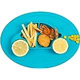 Qshare - シリコン製 お食事用ミニマット 赤ちゃん 幼児適用 BPAフリー 滑り止めランチョンマット