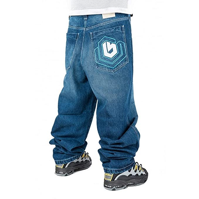 The Blueskin Jeans THEBLUESKIN Skate Rap Pantaloni Baggy Hip Hop  Amazon.it   Abbigliamento ff4ff779213b