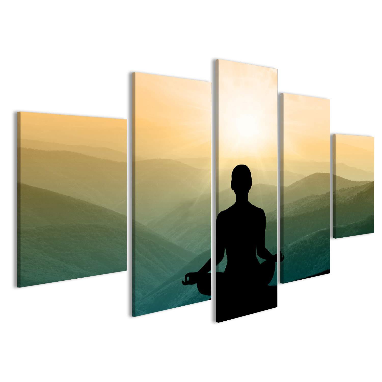 islandburner Cuadro Cuadros Silueta de Yoga en la montaña en ...