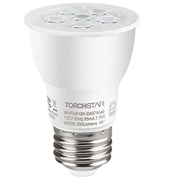 Paquete de 1/6 bombillas LED regulables, de 7,5 W PAR16,