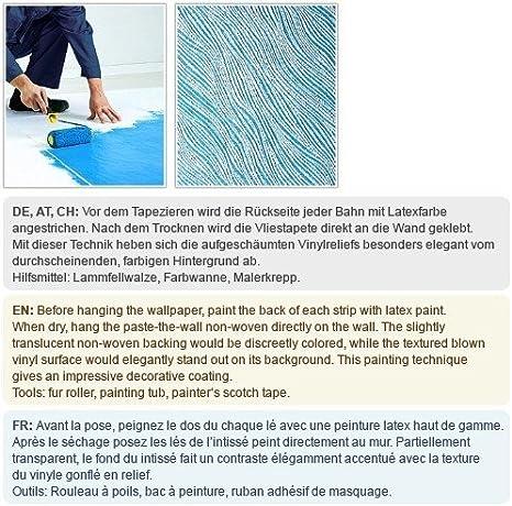 Papier à Peindre Non Tissé Mur Et Plafond Relief Décoratif