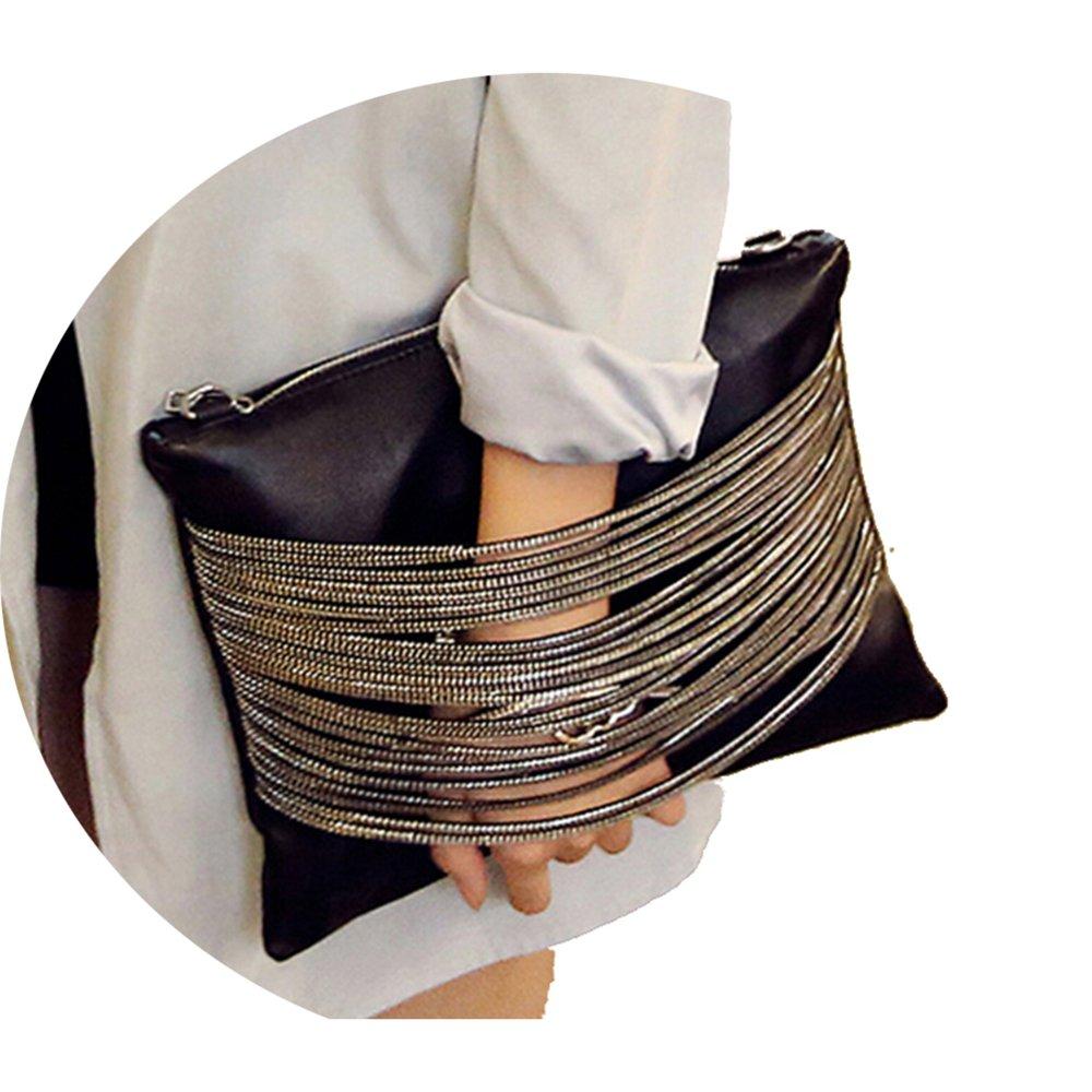 Elegant Daily Casual Clutch Bag Purse For Women 2018, Womens Leather Party Wristlet Handbag Black Clutch Purses for Women
