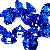 Adorox 25 Carat Flat Acrylic Diamonds Party Decorations Table Scatter (Royal Blue (1lb Bag))
