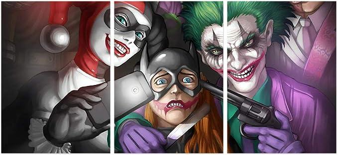 Harley Quinn Hot Girl Superhero DC Movie Villains Jocker Poster Wall Decor X-533