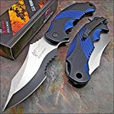 Cheap MTECH XTREME BALLISTIC BLUE Spring Assisted Opening Flipper Pocket Folding Knife