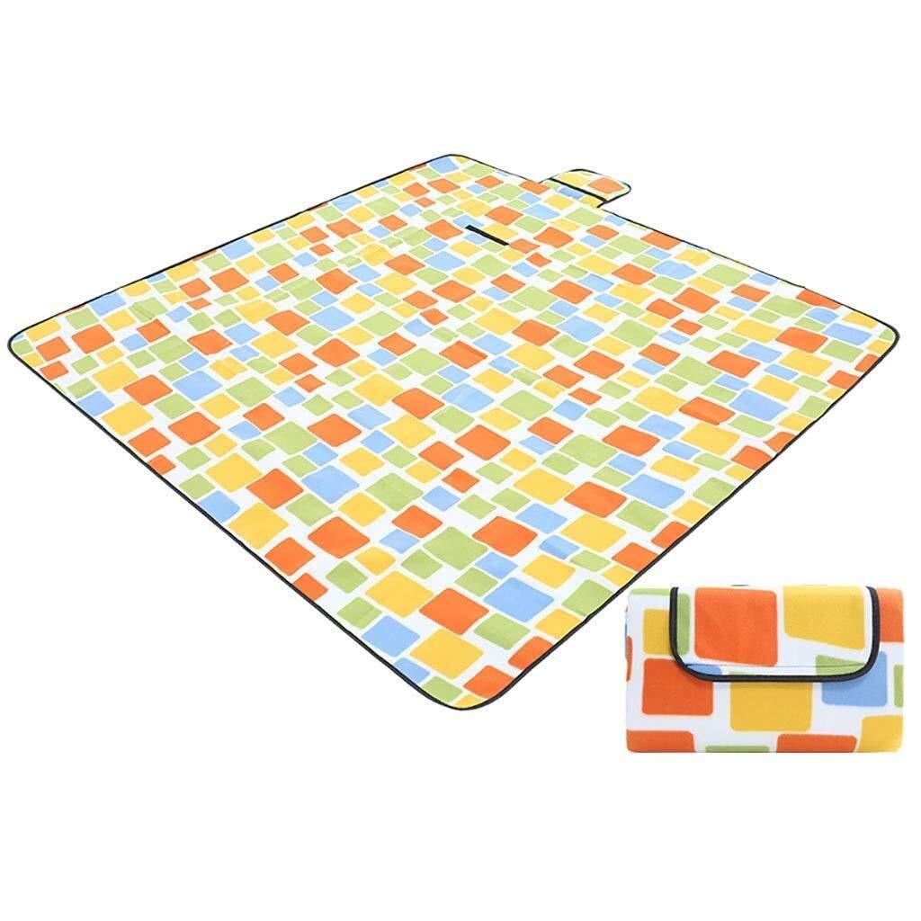 ZKKWLL Picnic Blanket Picnic Blanket Fleece Camping Beach Blanket, Waterproof and Sandproof Aluminum Backing 200 200 cm Beach mat (Color : C) by ZKKWLL
