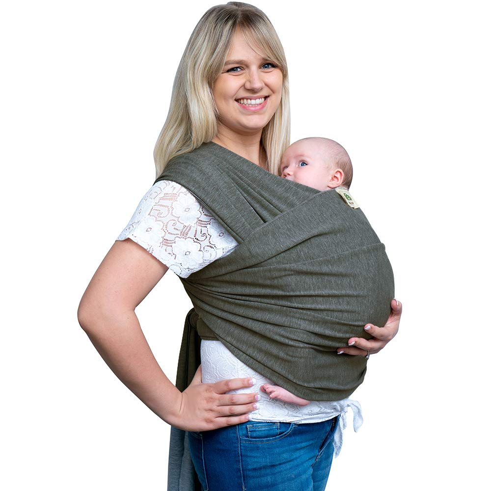 Baby Wrap Carrier | Baby Sling | Ergonomic Babywearing | Available in 4 Colors | Great Baby Shower Gift | All-in-1 Stretchy Infant Carrier | from Newborn up to 35lbs|Dark Grey Yiwu Lydoo Industry Co. Ltd QH-Grey-001