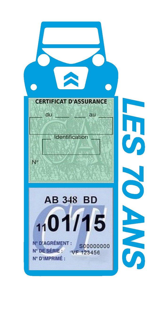 Porte é tui Assurance Auto Mega Citroë n 2CV Spé cial Les 70 Ans Stickers Auto ré tro (Gris) Générique
