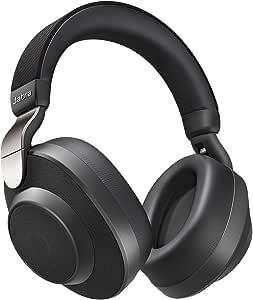 Jabra Elite 85H 100-99030000-60 Aktif-Pasif Gürültü Önleyici Kulaküstü Bluetooth Kulaklık, Titanyum Siyah