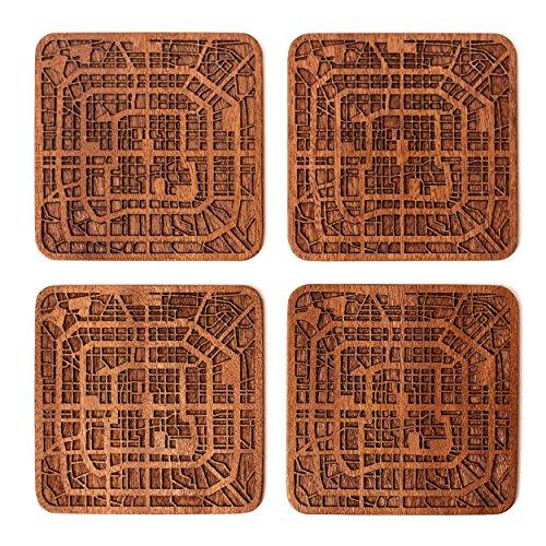 Beijing Map Coaster by O3 Design Studio, Set Of