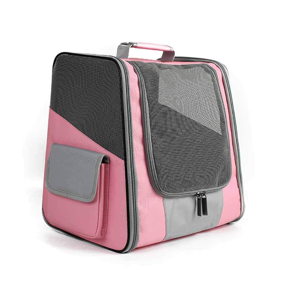 Insone Comfortable Backpack for Dog and Cat Pet Bag for Puppy Breathable Head Out Design Padded Shoulder Outdoor Hiking Walking & Outdo Small Animals,Pink