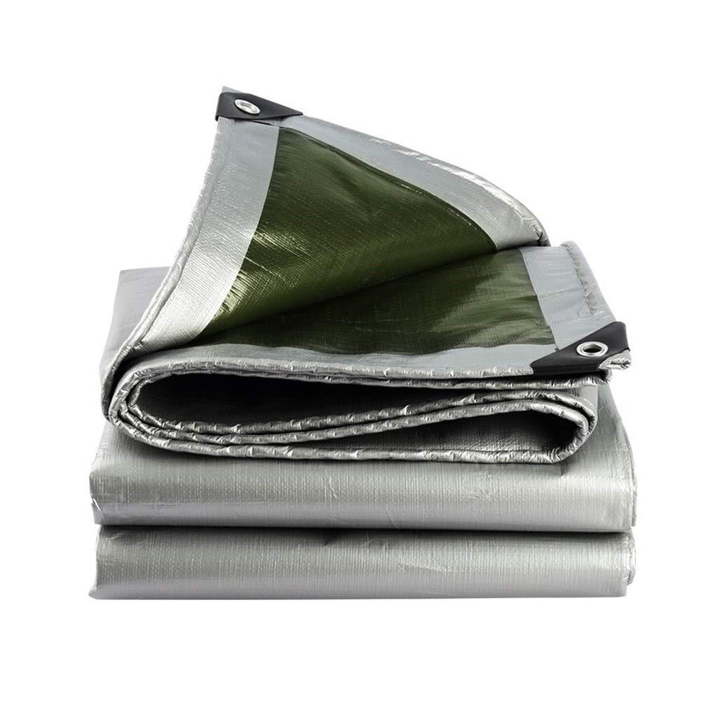 YEIUY Plane Silber Dicker Sonnenschutz dicht dicht gewebt Regen und Staub Plane Leinwand, Outdoor Camping Gartenarbeit, Multi-Purpose, mehrere Größen