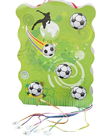Mopec Piñata con Dibujo de balones de Futbol, Pack de 1 Unidad, Cartón,