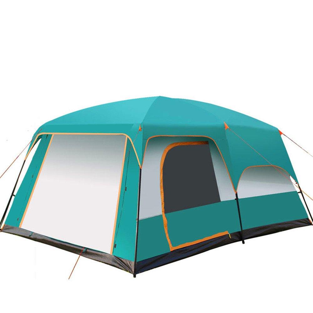 TLMY Im Freien Zwei-Zimmer Regendicht Sonnencreme 8-12 Camping Zelt Camping Großes Zelt Zelte