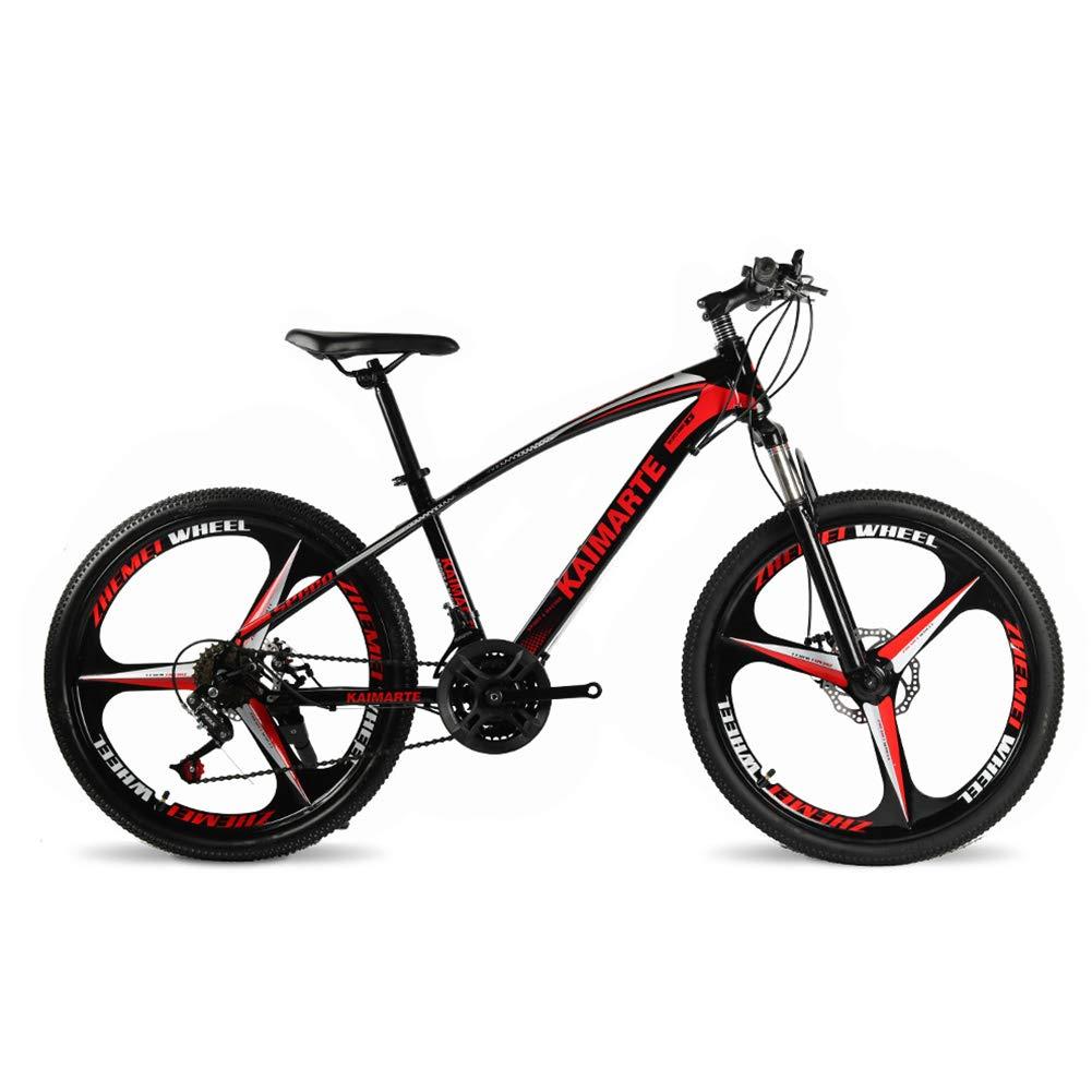 colores increíbles rojo FJW FJW FJW Bicicleta de montaña Unisex 21 24 27 Velocidad Estructura de Acero con Alto Contenido de Carbono 26 Pulgadas Ruedas de 3 radios con Frenos de Disco y Horquilla de suspensión,azul,24Speed 21Speed  barato y de alta calidad