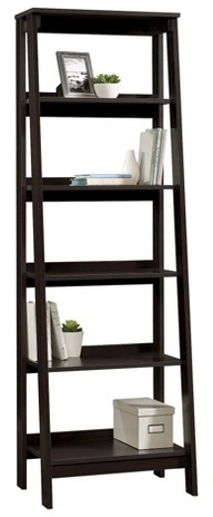 5-Shelf Trestle Bookcase Espresso : Target