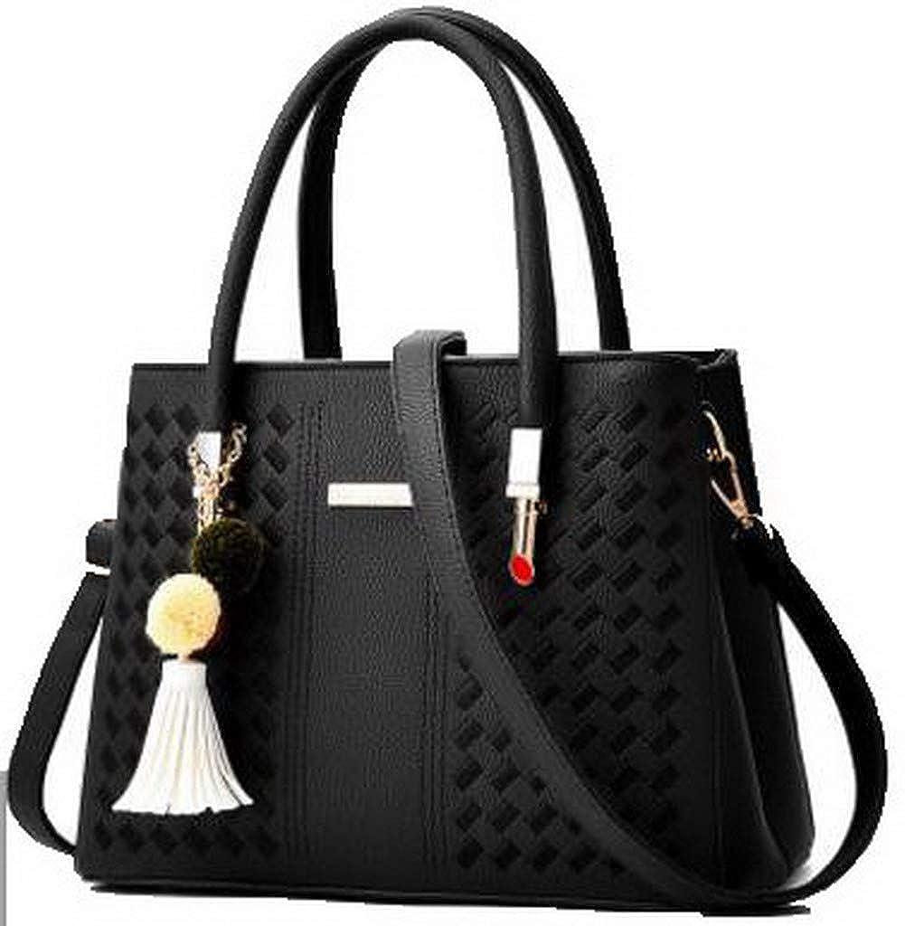 Black WeiPoot Women's Dress ToteStyle Dacron Shoulder Bags Crossbody Bags, EGHBG181771