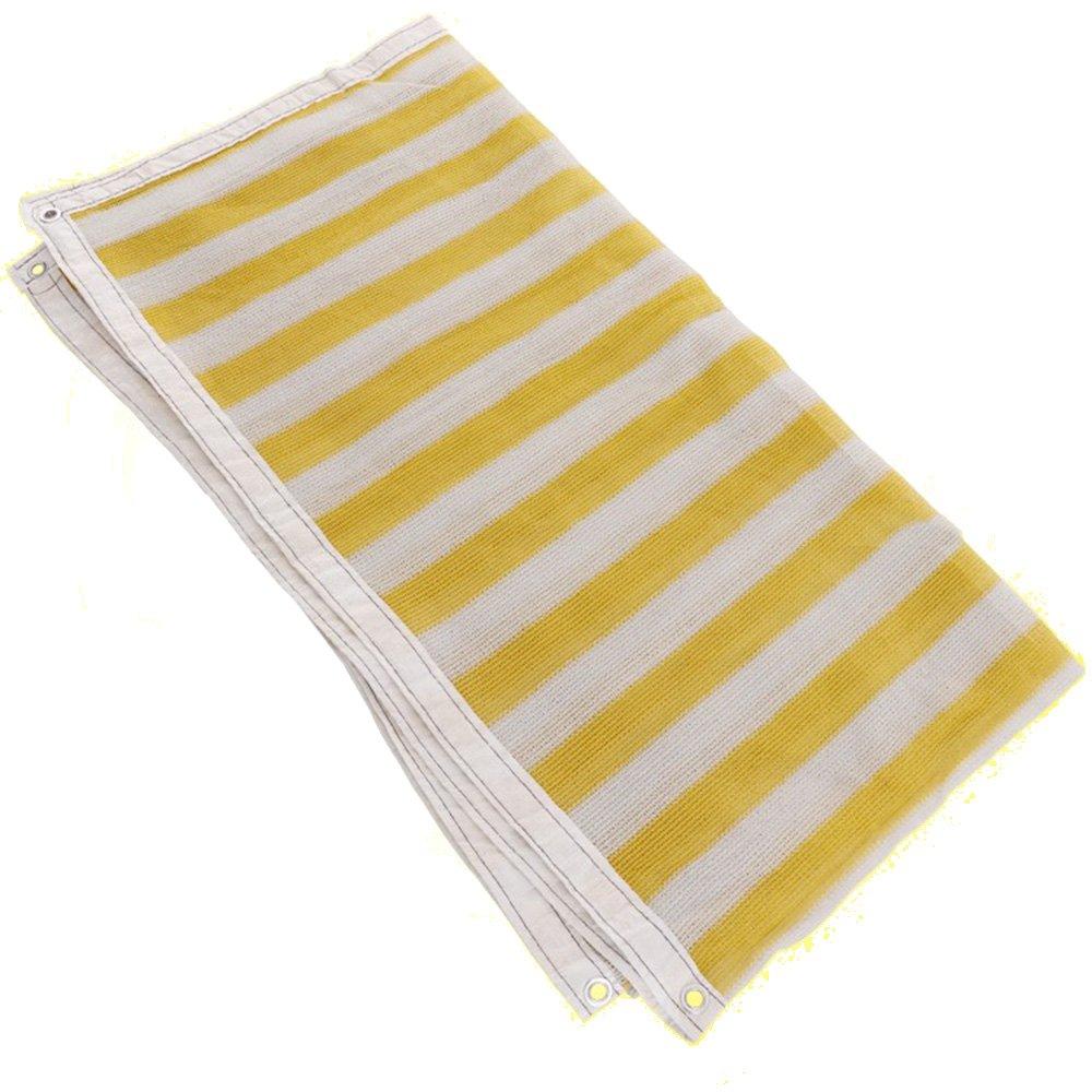 grande sconto DYFYMXUV DYFYMXUV DYFYMXUV Ombra Rete Ombrellone Solare Netto Protezione Solare Rete Traspirante Balcone Giardino Fiore Isolamento Rete 85% Tasso di ombreggiatura (colore   bianca+giallo, Dimensioni   2  4m)  offrendo il 100%