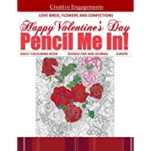 Happy Valentines Day Adult Colouring Book Doodle Pad And Journal Europe Coloring Books Tea In All Departments Cups