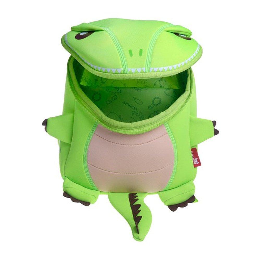 GreenForest Mochila de niño - Dinosaurio divertido (12,8 * 9.4 * 7.5 pulgadas)- regalo de Navidad para niños 3-8 años (Verde claro - Large): Amazon.es: ...