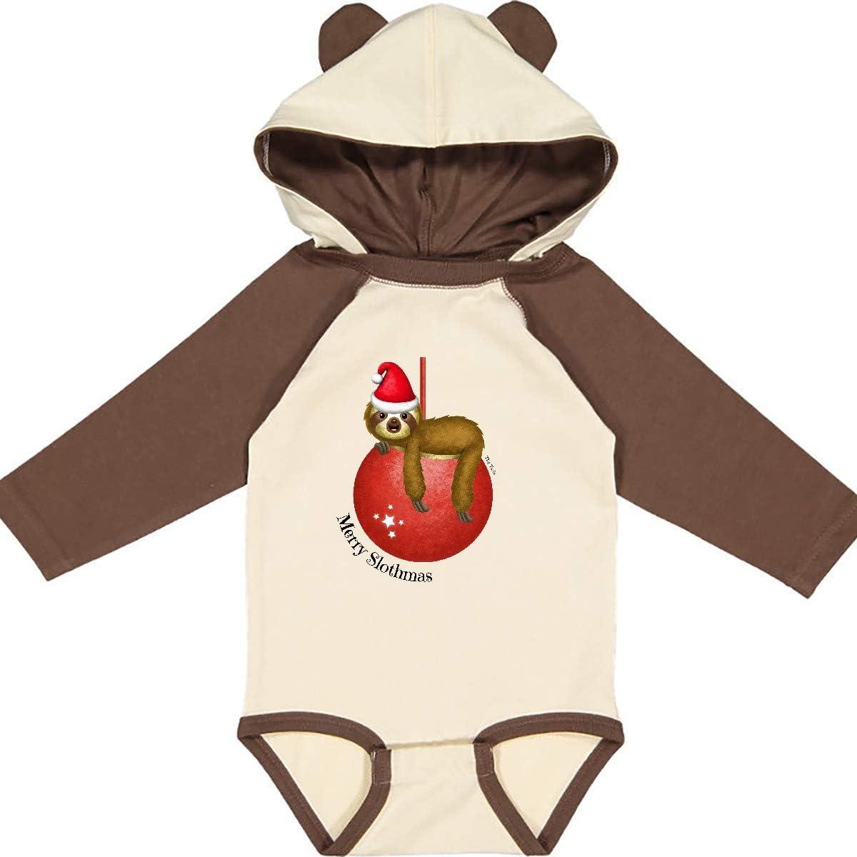Tiny Tusks inktastic Merry Slothmas Sedrick Sloth Cute Long Sleeve Creeper