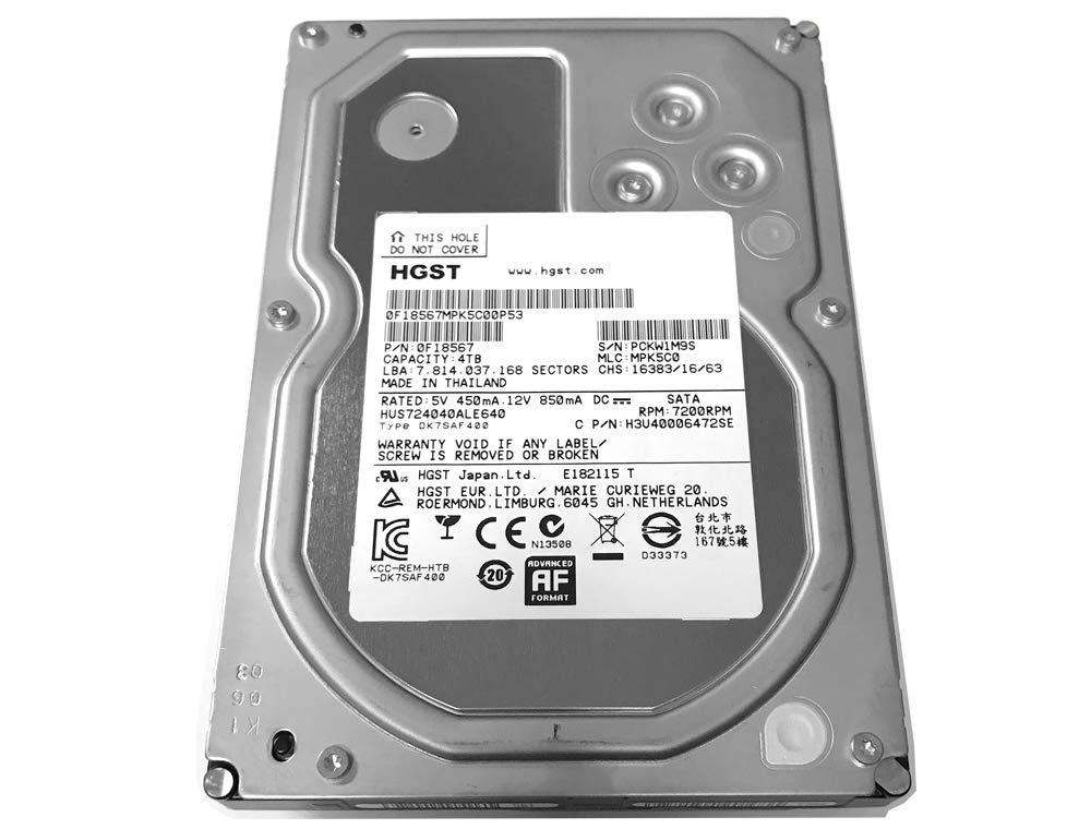 HGST Ultrastar 7K4000 4TB 64MB Cache 7200RPM SATA III (6.0Gb/s) 3.5inch Internal Enterprise Hard Drive -5 Year Warranty by HGST
