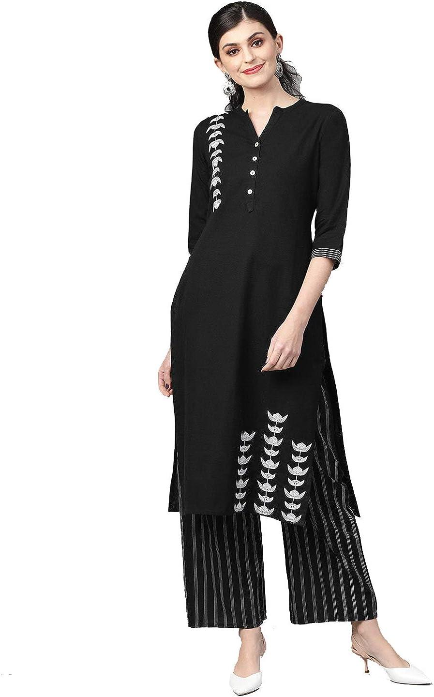 Reyon Kurta Pant Set Indian Cotton Kurti Palazzo Set Womens Casual Wear
