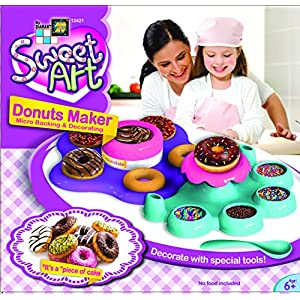 AMAV Donut Maker Toy Activity Set Using Microwave Baking - DIY Make Your Own Delicious Treat - Edible Sweet Art