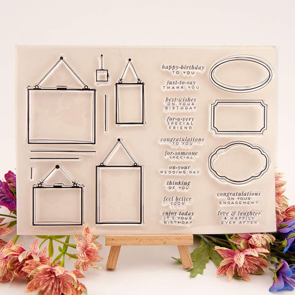 Saludos Sello De Silicona Sello Claro DIY Scrapbooking Relieve /Álbum De Fotos Tarjeta De Papel Decorativo Arte Craft