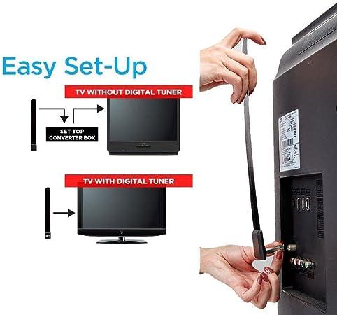 taottao HDTV Cable de antena de televisión Digital para interior 1080P zanja libre como visto