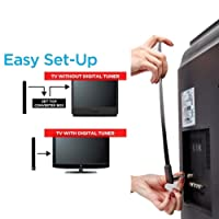 Taottao HDTV numérique gratuit TV antenne intérieure 1080p débarrasser de câble Vu